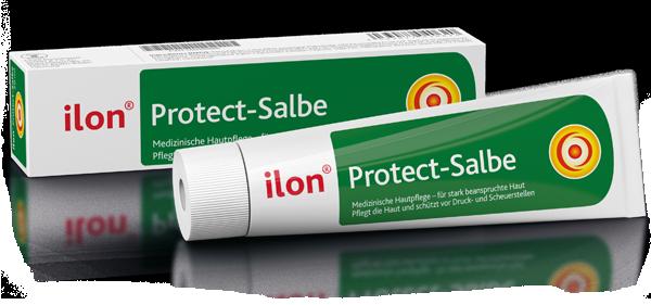 ilon Protect-Salbe liegend mit Verpackung und freistehend